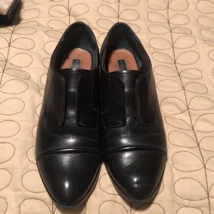 Halogen black leather Oxford loafers